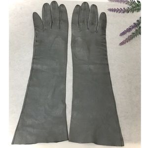 1940's Gray Kid Leather Long Gloves